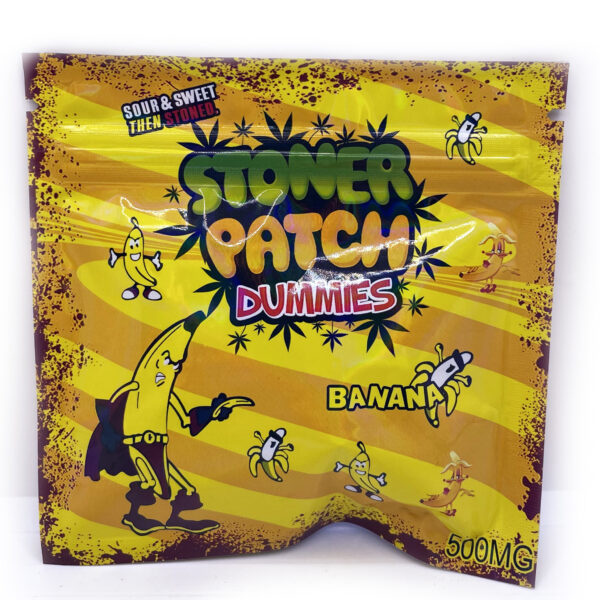 Blueberry Stoner Patch Dummies are candy infused with THC. Every pack of edibles contains 500mg of THC with five blueberry flavoured candies. These snack-sized edibles are a tasty choice for anyone that's looking to enjoy the effects of marijuana without smoking.