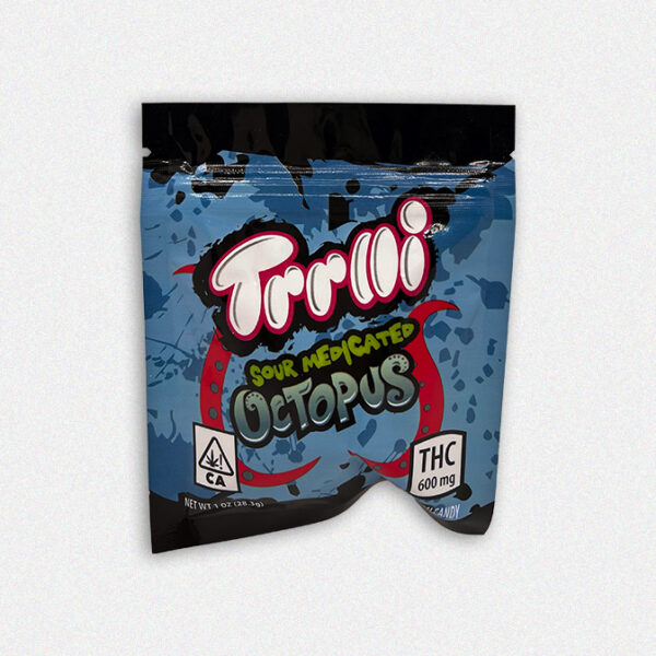 Medicated Trolli gummies are carefully dosed with 600mg THC of the premium cannabis products. Whether you just need to take the edge off and unwind on your couch or you are going on an adventure, these Sour Bite Crawlers are the perfect edible.